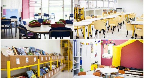 Salas de aula do CEU Luíza Maria de Farias (Foto: Ricardo Toscani)