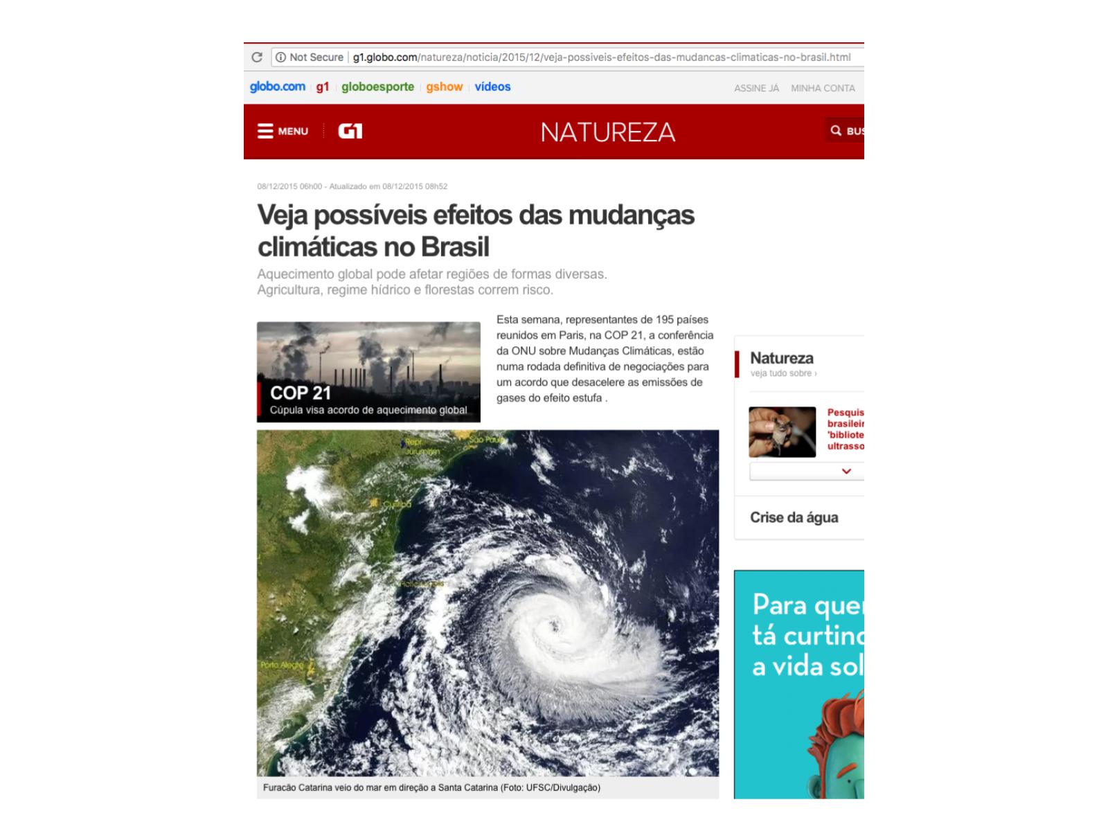 Ciclones, furacões, tufões e tornados