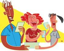 SOCIALIZAR AS PRÁTICAS Quem chega sempre tem o que ensinar e o que aprender, e quem ganha com isso é a aprendizagem. Ilustrações Thiago Cruz