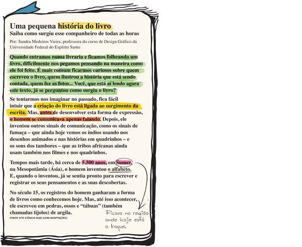Eleger informações. Ilustração: Rogério Fernandes. Fonte site Ciência Hoje (com adaptações)