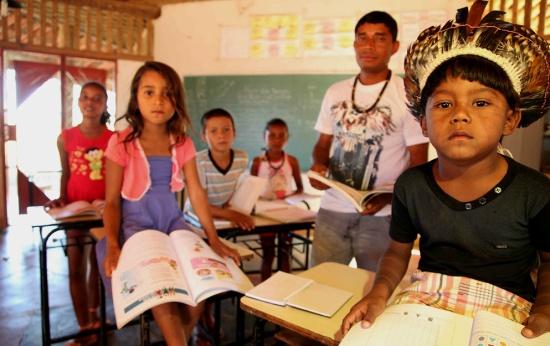 Escola indígena em São João Missões, norte de Minas Gerais