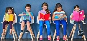 Crianças fazem leitura