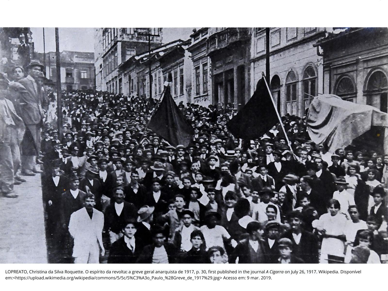 O Movimento Sindical no Brasil no início da República