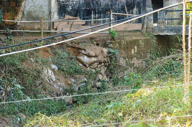 Chuvas destruíram as margens de um rio e a garotada bolou ideias para revitalizar a área. Arquivo pessoal/Rafael Pereira Machado