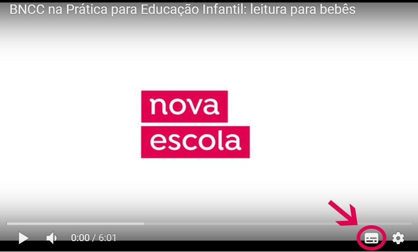 Imagem mostra como colocar legendas nos vídeos da Nova Escola