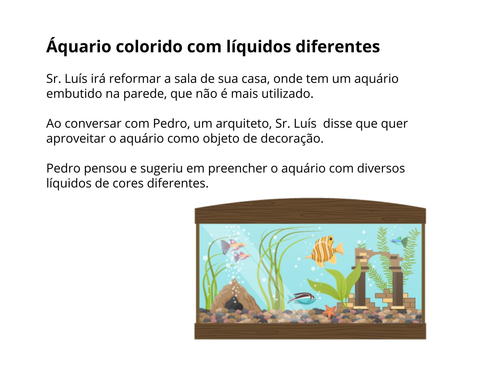 Misturas homogêneas e heterogêneas: do incolor ao colorido