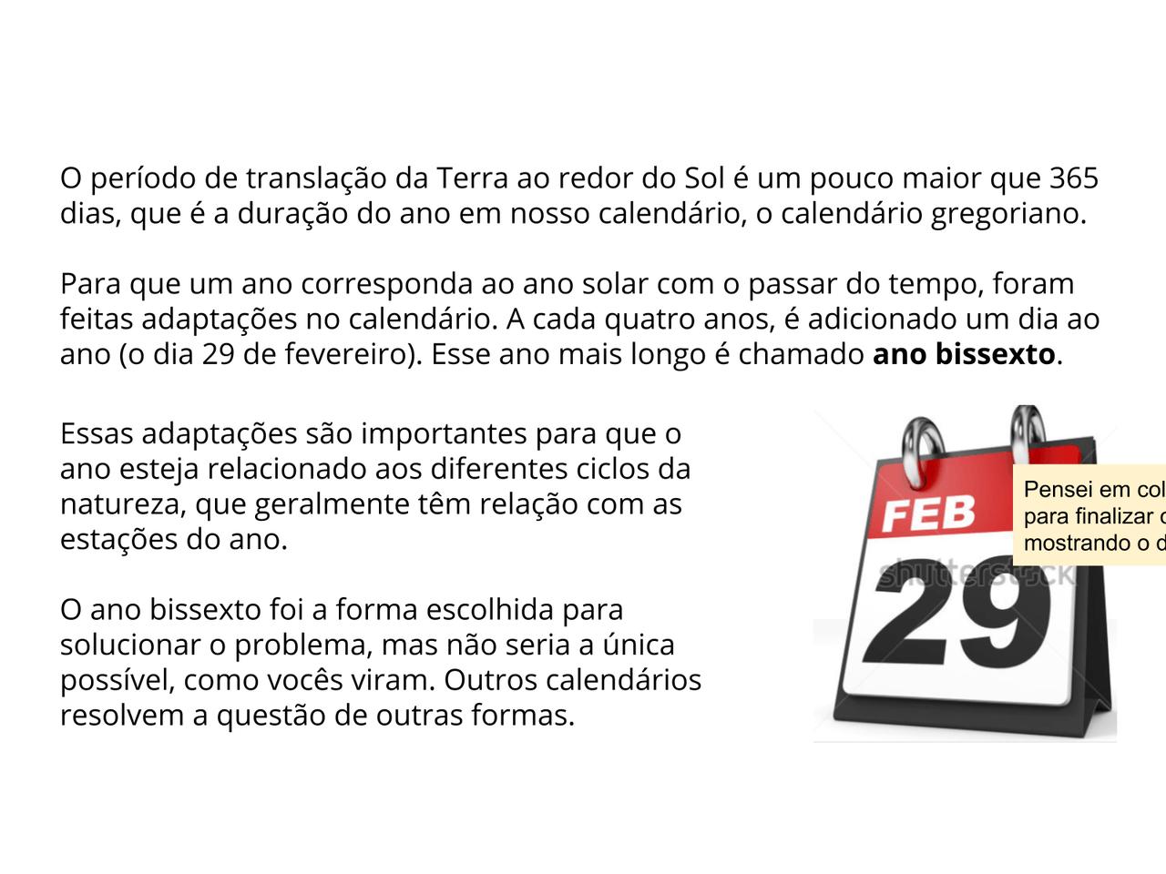 Calendario Gregoriano.Plano De Aula 4º Ano Ciencias Adaptacoes Do Calendario