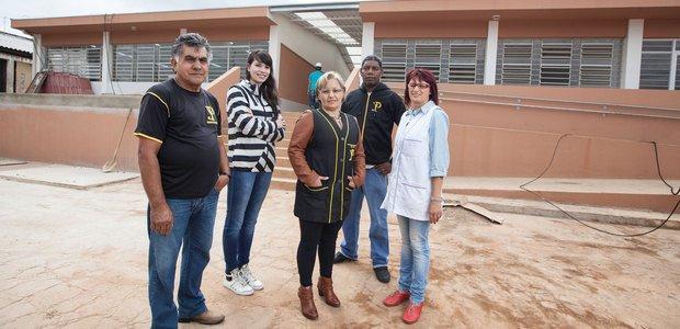 O conselho escolar ajudou a deslanchar a reforma e acompanhou de perto o cronograma. Foto: Marcelo Almeida