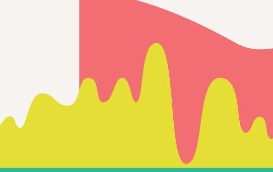 Ilustração de linha do tempo com linhas curvas. Crédito: ALICE VASCONCELOS