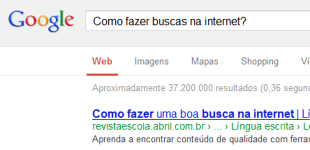 Página de pesquisa do Google