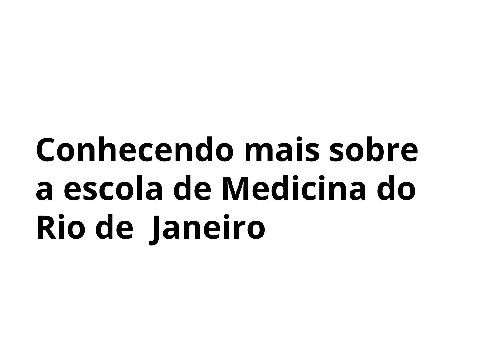 A inauguração da escola de medicina do Rio de Janeiro