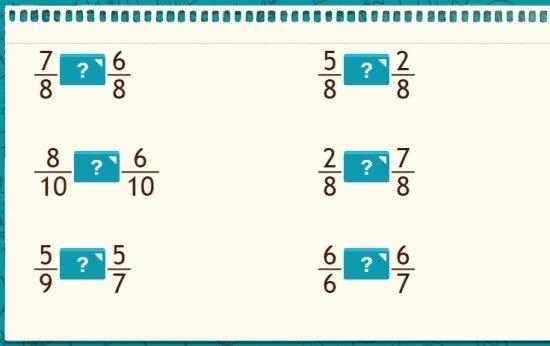 Mesmo denominador ou numerador