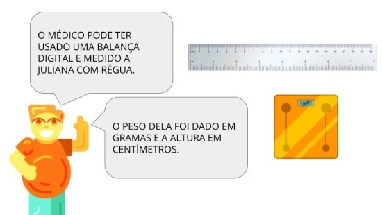 Diferentes instrumentos de medidas padronizados ou não