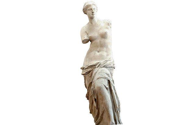 A bela Vênus de Milo integrou a apreciação de obras e de imagens da Grécia antiga. Divulgação/acervo Louvre