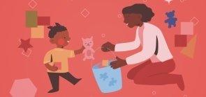 Como observar os bebês durante uma atividade com cestinhas de objetos