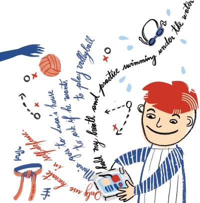 E-books sobre esporte, do início ao apito final: escrevendo narrativas, a moçada ampliou o vocabulário e aprendeu o simple present. Elisa Carareto