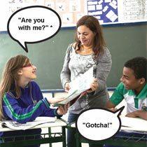 Para se familiarizar com as novas expressões e fixar a pronúncia, os alunos fizeram a leitura dos termos e tentaram incorporá-los à fala. Foto: Raoni Maddalena