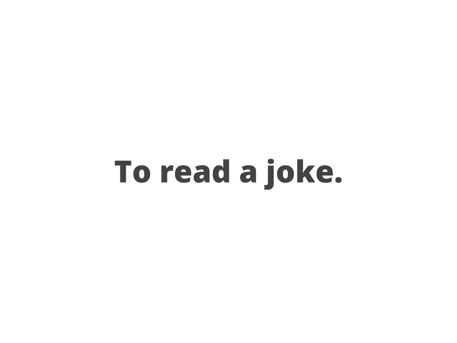 Lendo  anedotas