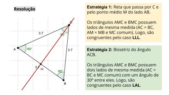 Simetria nos triângulos e quadriláteros e a congruência de triângulos