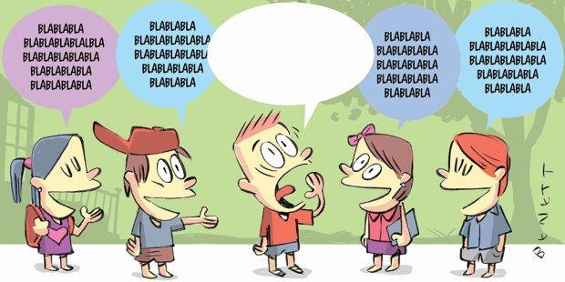 Ninguém fala a mesma língua sobre a alfabetização de surdos. Ilustração: Benett
