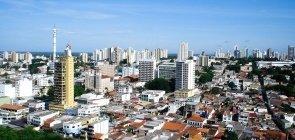 Vista aérea da cidade de Cuiabá, capital do Mato Grosso