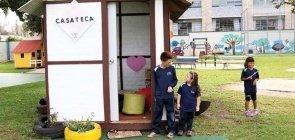 Casateca é projeto de construção sustentável da escola Medianera em Curitiba.