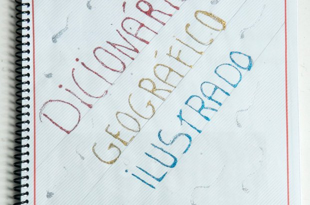 Na EM Professor Domingos Pimentel de Ulhôa, cada estudante elaborou seu dicionário geográfico ilustrado. O material continha as definições dos conceitos estudados ao longo do projeto, como espaço, lugar e paisagem. Roberto Chacur