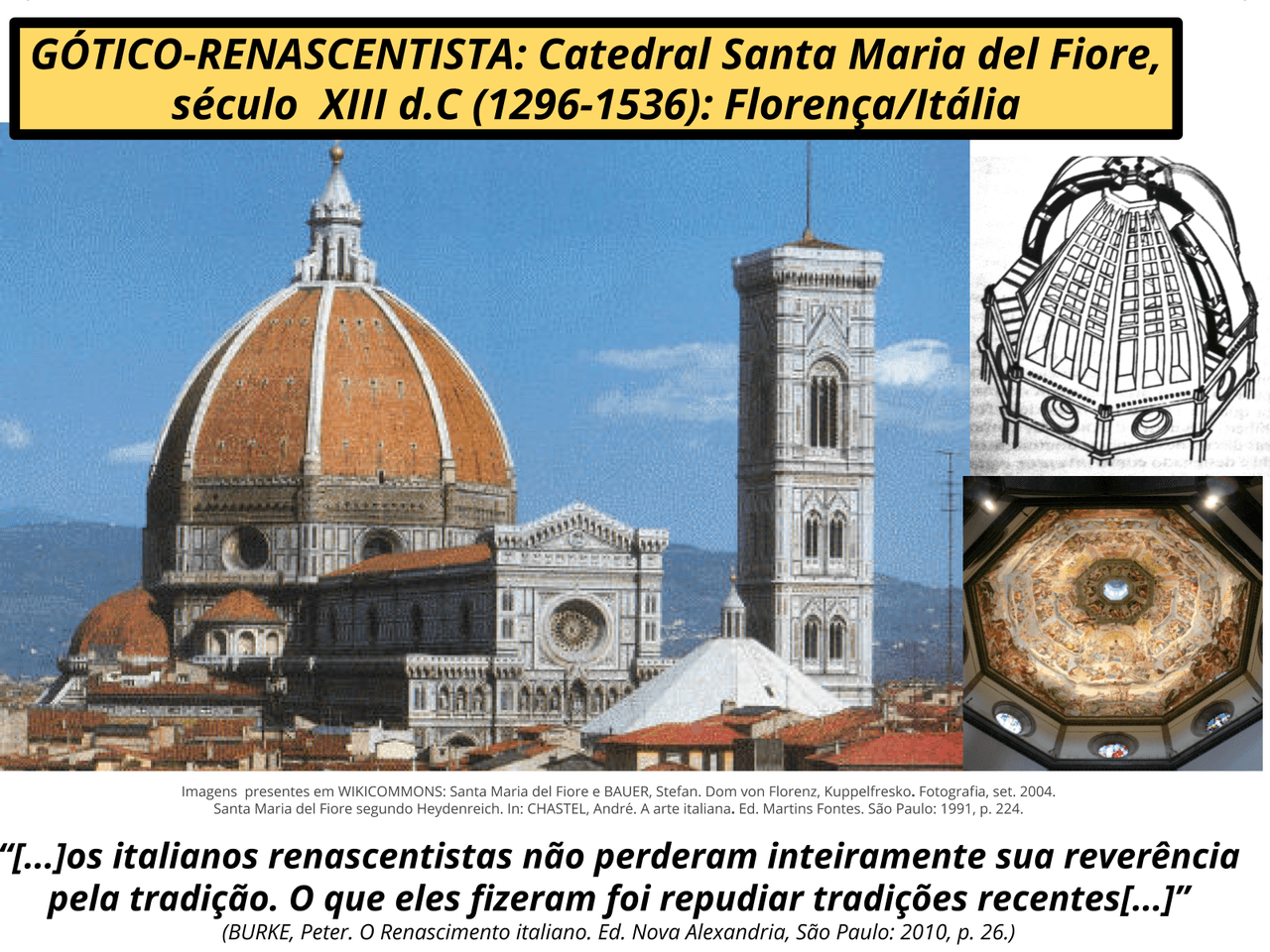 A arte renascentista - arquitetura