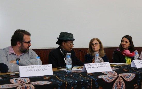 Relatora especial para o direito humano à Educação da ONU, Koumbou Boly Barry recebe informações sobre a PEC 55 da Campanha Nacional pelo Direito à Educação