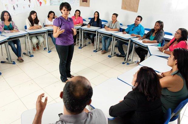 Janaina e os professores combateram o baixo desempenho da turma. Marina Piedade