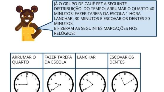 Resolução de Problemas envolvendo o tempo