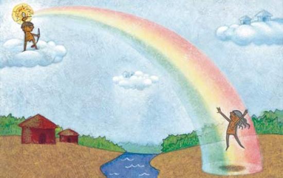 A dança do arco-íris