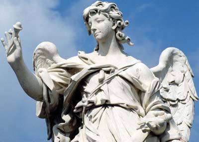 Anjo da ponte de Sant'Angelo, escultura do italiano Gian Lorenzo Bernini. Foto: Andrea Jemolo/Akg-Images/Latinstock