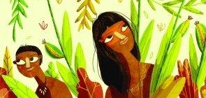 Ilustração do livro 12 Lendas Brasileiras, de Clarice Lispector