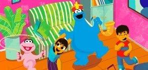 Atividade física: Lola e Come Come brincam com o Elmo