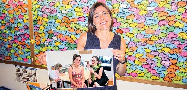 Daniela pesquisa a troca de conhecimento entre professores novatos e experientes. Foto: Eduardo Câmara