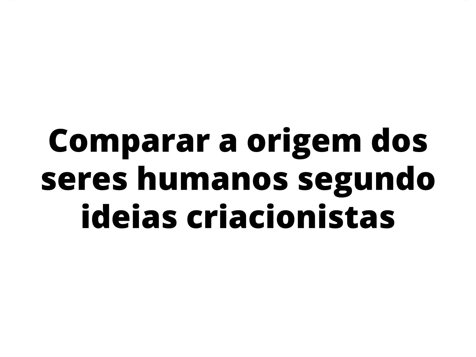 A origem dos seres humanos
