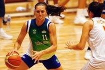 Jogo-treino da Seleção Brasileira de Basquete Feminino contra a seleção da Espanha, Beijing 2008. Foto: Wander Roberto / Divulgação COB
