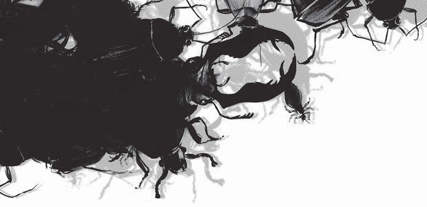 Explore o realismo fantástico do autor alemão com a leitura de uma de suas obras mais famosas. Ilustração: Olavo Costa