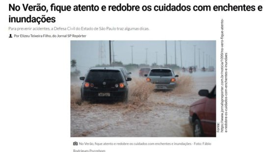 Ações humanas que influenciam nas enchentes