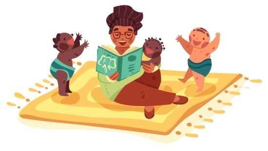 Instigar o interesse dos bebês pelas ilustrações de histórias