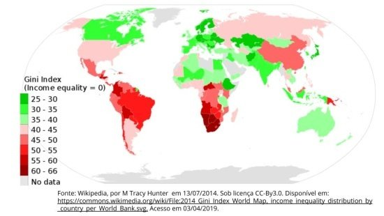 Índice de Gini: desigualdade social
