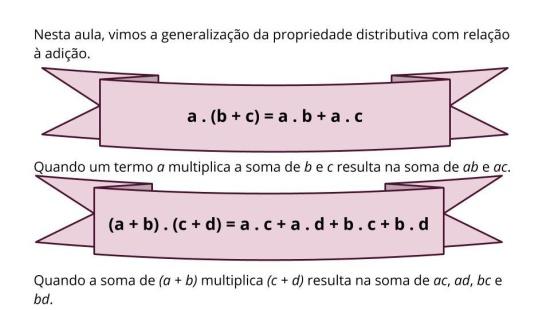 Reconhecer a Propriedade Distributiva da Multiplicação em Relação à Adição