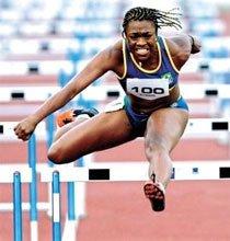 Maila Machado, 65 Kg, 1,67 m, corre os 100 metros com barreiras na casa dos 12 segundos: é o tempo que você demora para ler esta legenda. Foto: Wander Roberto/COB/Divulgação