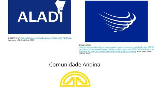 Unasul, Aladi e Comunidade Andina