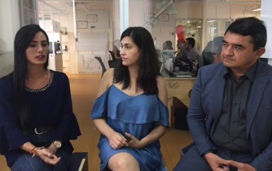 Professora Antonia Flávia, repórter Anna Rachel Ferreira e ex-secretário Júlio Alexandre