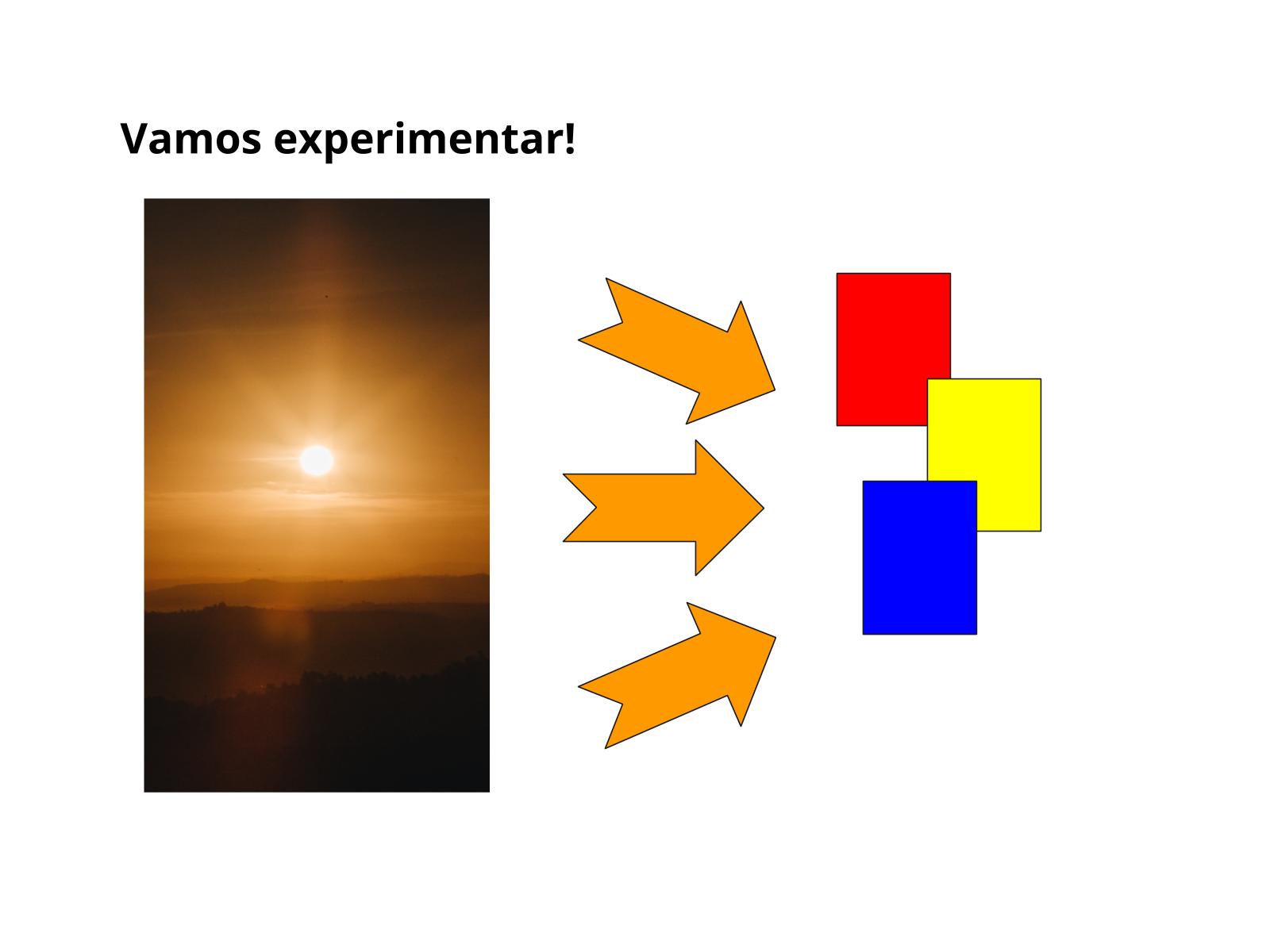 Transformação do papel colorido pela luz do Sol