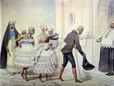 Reprodução de aquarela de Jean Baptiste Debrét