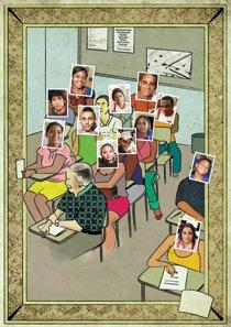 Ilustração de Fabrícia Batista com fotos de Benonias Cardoso, Gustavo Lourenção, Janduari Simões, Marcelo Almeida e Raoni Maddalena