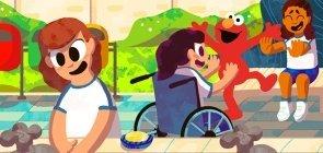 Cuidado pessoal: lavando as mãos com o Elmo